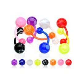 Nombril Boule Multi Couleurs Bioflex