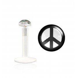 Labret bioflex motif peace and love