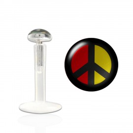 Labret bioflex motif peace and love couleur