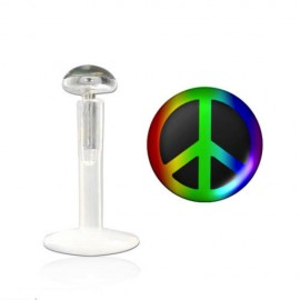 Labret bioflex motif peace and love multi couleur