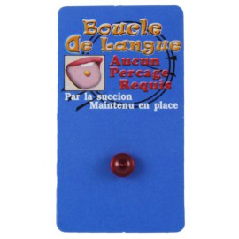 Faux Piercing Langue Rouge Bioflex