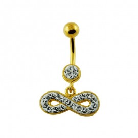 Nombril Cristal Infinity Plaqué OR 18K