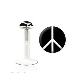 Labret bioflex motif peace and love noir